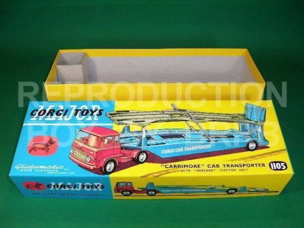 Corgi. #1105 Carrimore Car Transporter w. Bedford Cab - Reproduction Box